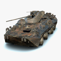 BTR-80A Burnt