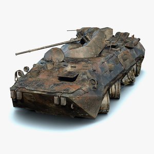 3D destroyed btr-80a model