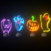 3D halloween decorations neon light
