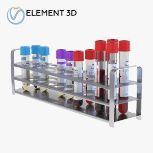 3D model medical tubes set