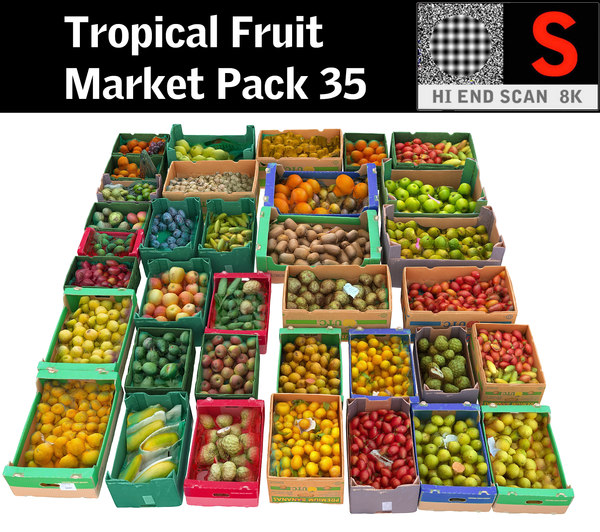 tropical fruit market pack model