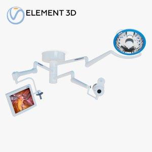 trio medical light camera 3D model
