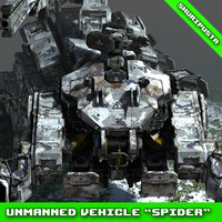3D model concept unmanned vehicle spider