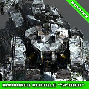 3D model concept unmanned vehicle spider