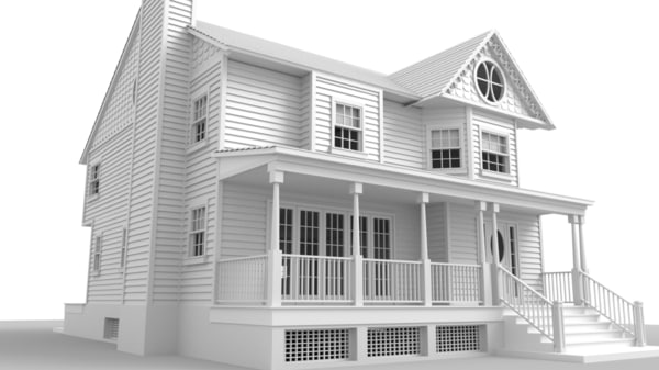 victorian house 3D