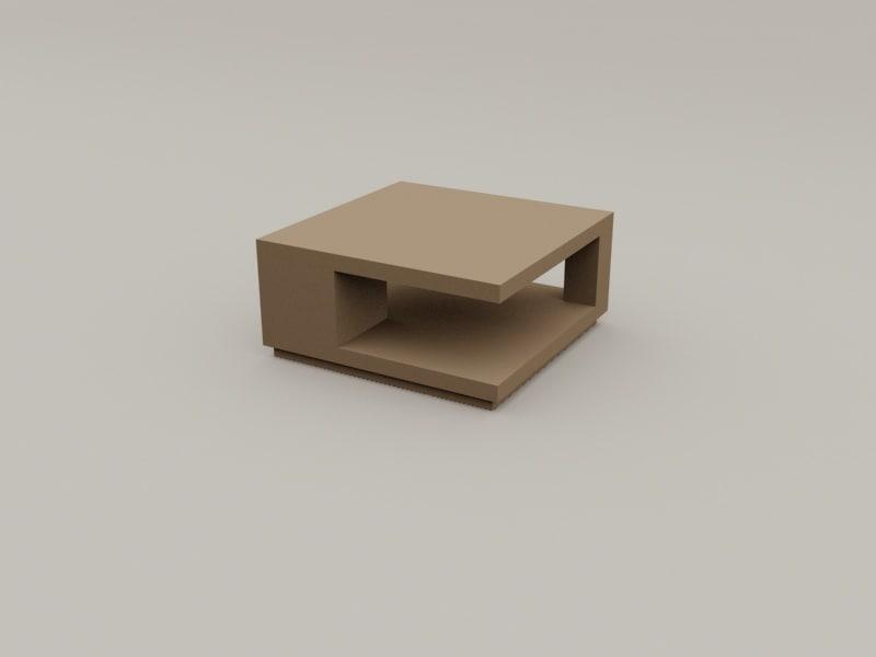 3D tea table