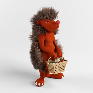 toy hedgehog 3D model