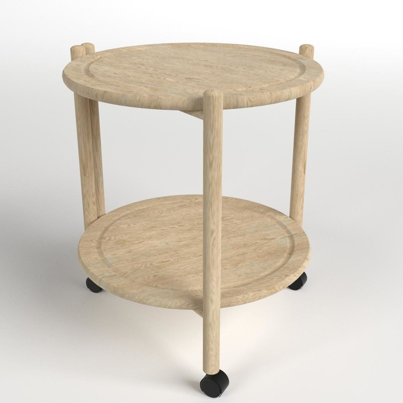 3D wooden circular table model