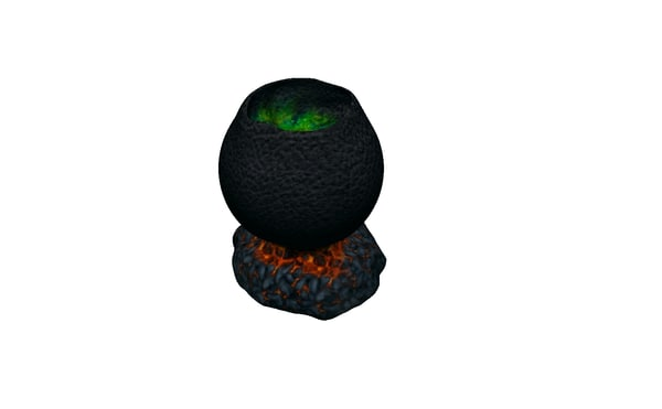 3D witch cauldron