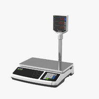 cas pr-15 retail scales 3D model