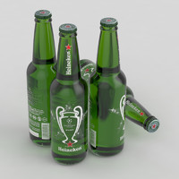 3D beer bottle heineken champions league