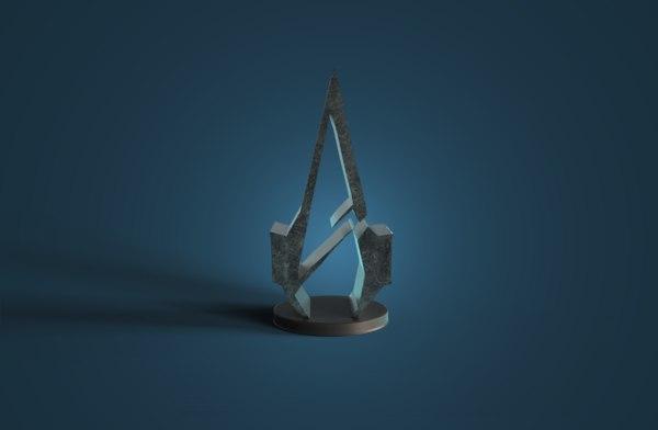 logo assassin creed 3D model
