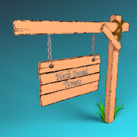 Low Poly Sign Post