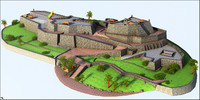 3D castle cartagena san