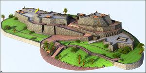 3D castle cartagena san