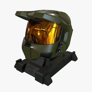 halo helmet 3D model