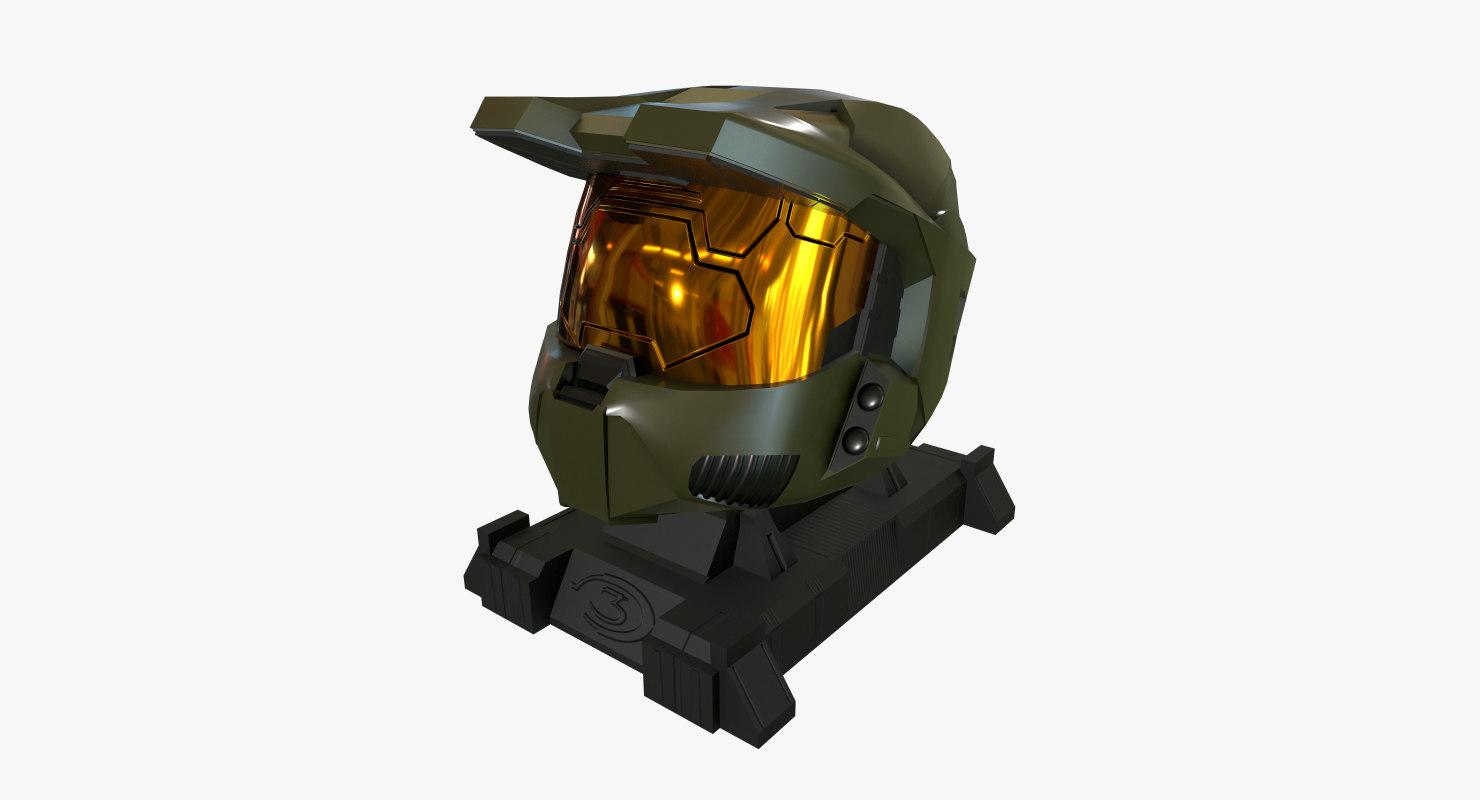 halo helmet 3D model