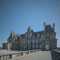3D chateau garden