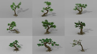 trees flowers setting 3D
