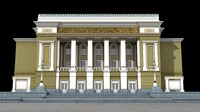 3D abay opera house almaty model