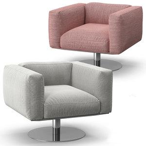cassina 206 cube armchair 3D