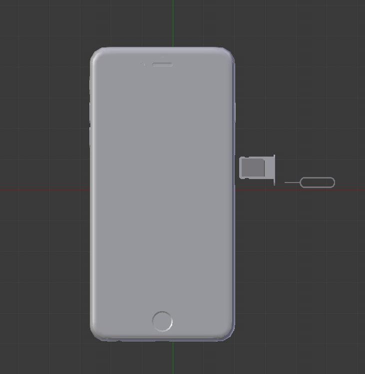3D model phone sim
