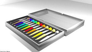 3D color drawing tool model