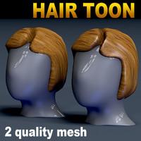 hair toon mesh 3D model