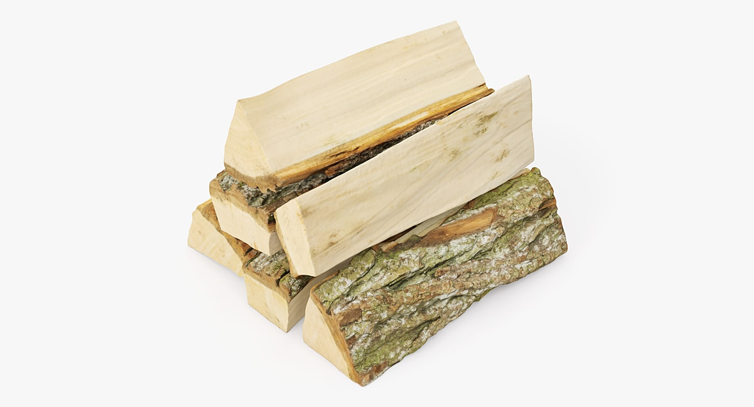 3D model realistic wood firewood