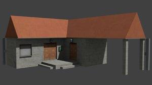 low-poly simple 3D model
