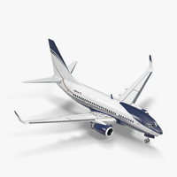 3D model boeing 737-600 generic rigged