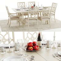 3D hookers sandcastle table chairs model