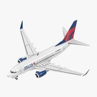 3D boeing 737-600 delta air lines model
