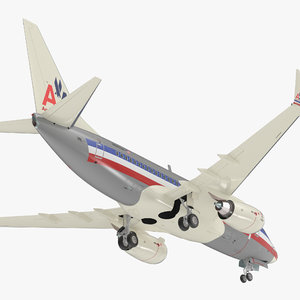 boeing 737-600 american airlines 3D model