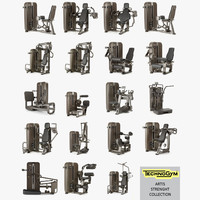 Strenght collection gym Technogym ARTIS group, full set 19 items