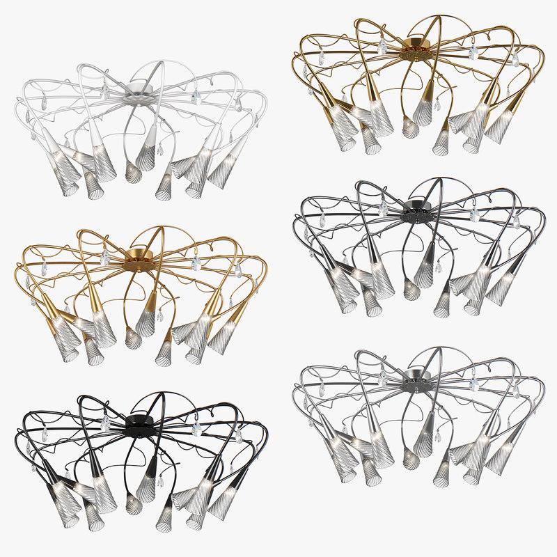 chandelier aereo lightstar 3D model