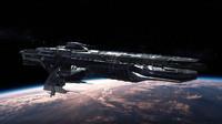 3D spaceship lod