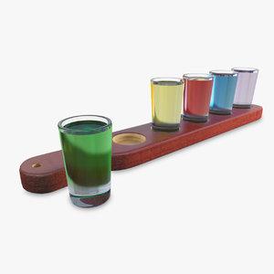 3D model short drinks