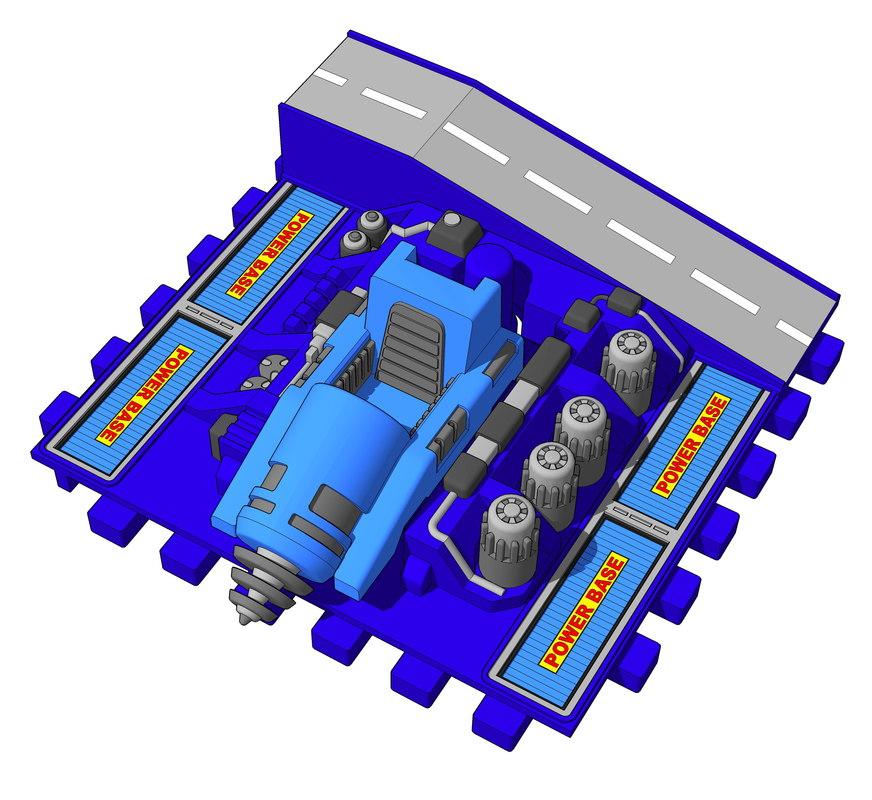 3D diaclone powerbase model