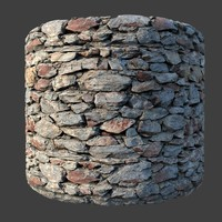 seamless masonry wall 3D model