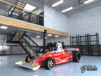 3D ferrari 312t garage model