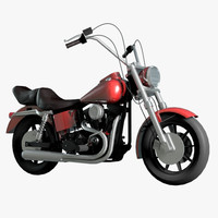 moto chopper 3D model