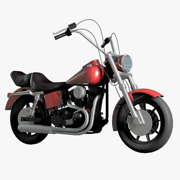 moto chopper 3D model