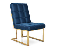 3D goldfinger navy dining