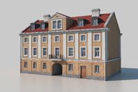 classic european tenement facade 3D model
