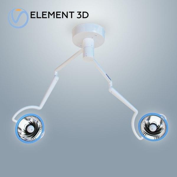3D metal halide surgical medical