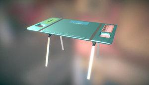 3D metal desk chests