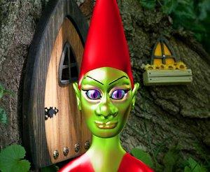 3D model gnome