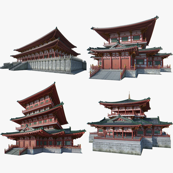 chinese palace 1 3D model