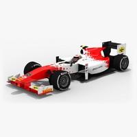 mp motorsport formula 2 3D model